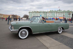 The ceremonial car ZIL-117V on the Palace Square close up. Saint-Petersburg Stock Images