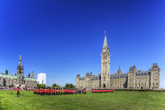The ceremonial Changing of the Guard, Ottawa, Canada Royalty Free Stock Photo