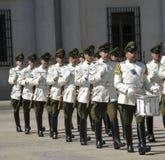 Ceremonial changing of the guard at Palacio de la Moneda Stock Photo