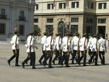 Ceremonial changing of the guard at Palacio de la Moneda Stock Images