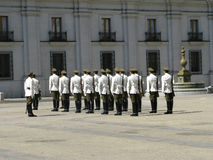 Ceremonial changing of the guard at Palacio de la Moneda Stock Images