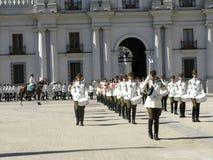 Ceremonial changing of the guard at Palacio de la Moneda Royalty Free Stock Image