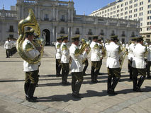Ceremonial changing of the guard at Palacio de la Moneda Stock Photos