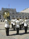 Ceremonial changing of the guard at Palacio de la Moneda Royalty Free Stock Photography