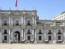 Ceremonial changing of the guard at Palacio de la Moneda Royalty Free Stock Images