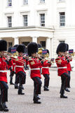 Ceremonial changing of the London guards in front of the Bucking Palace, London, United Kingdom Stock Image
