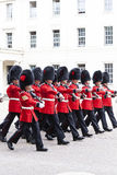 Ceremonial changing of the London guards in front of the Bucking Palace, London, United Kingdom Royalty Free Stock Image