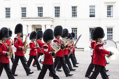 Ceremonial changing of the London guards in front of the Bucking Palace, London, United Kingdom Royalty Free Stock Images