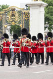 Ceremonial changing of the London guards in front of the Buckingham Palace, London, United Kingdom Royalty Free Stock Photo