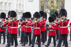 Ceremonial changing of the London guards in front of the Buckingham Palace, London, United Kingdom Stock Images