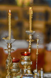 Ceremonial Christian Orthodox Candles Stock Photo
