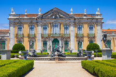 Queluz National Palace. The ceremonial facade of the corps de logis. Queluz National Palace, in the municipality of Sintra, Lisbon district, Portugal Royalty Free Stock Photography