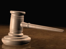 A ceremonial gavel. Illustration of a ceremonial gavel and sound block Stock Image