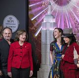 `The Marvelous Mrs. Maisel` Honored at Empire State Building stock image