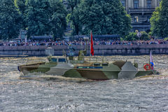 The ceremonial parade on the occasion of the Day of the Russian Navy. Russia, St. Petersburg, 30,07,2017 The ceremonial parade on the occasion of the Day of the Royalty Free Stock Photos