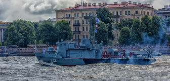 The ceremonial parade on the occasion of the Day of the Russian Navy. Russia, St. Petersburg, 30,07,2017 The ceremonial parade on the occasion of the Day of the Stock Images