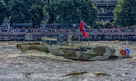 The ceremonial parade on the occasion of the Day of the Russian Navy. Russia, St. Petersburg, 30,07,2017 The ceremonial parade on the occasion of the Day of the Royalty Free Stock Image