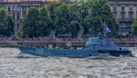 The ceremonial parade on the occasion of the Day of the Russian Navy. Russia, St. Petersburg, 30,07,2017 The ceremonial parade on the occasion of the Day of the Royalty Free Stock Photo