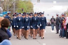 Ceremonial parade at Vladimir Stock Images