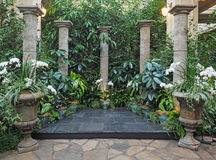 Ceremonial portal with stone columns Royalty Free Stock Photography