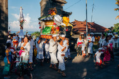 Ceremonial procession, Bali, Indonesia Royalty Free Stock Photo