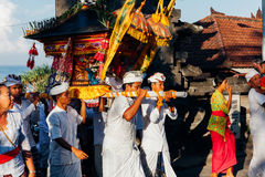 Ceremonial procession, Bali, Indonesia Royalty Free Stock Images