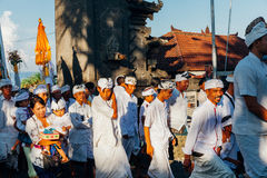 Ceremonial procession, Bali, Indonesia Stock Photography