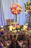 Ceremonial reception table setting Stock Photo