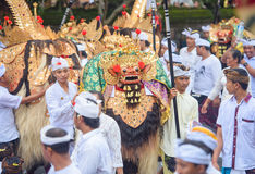 Ceremonial religious procession,Bali Royalty Free Stock Photography