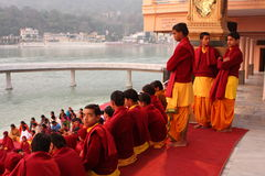 Ceremonial in Rishikesh Stock Photo