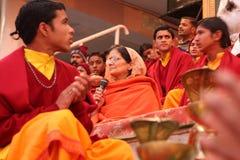 Ceremonial in Rishikesh Fotografie Stock Libere da Diritti