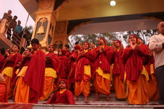 Ceremonial in Rishikesh Royalty Free Stock Photography