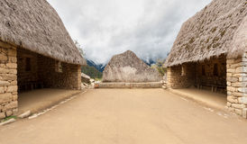 Ceremonial Rock of Machu Picchu Royalty Free Stock Photography