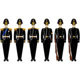 Ceremonial shape of the Marine Corps Stock Photography