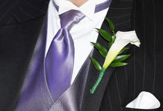 Ceremonial suit. Mens ceremonial suit with a piece of flower stock photography