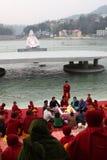 Ceremonial sul fiume Ganges Immagine Stock Libera da Diritti