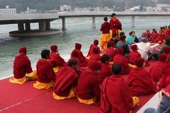 Ceremonial sul fiume Ganges Immagine Stock