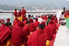 Ceremonial sul fiume Ganges Fotografie Stock Libere da Diritti