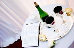 Ceremonial wine. Ceremonial attributes for the Jewish wedding stock photo