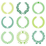 Ceremonial Wreath Frames. A set of Nine High Detail Ceremonial Frames Royalty Free Stock Photo