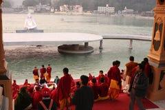 ceremonialny rishikesh obrazy stock