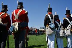 Ceremonias conmemorativas en el fuerte York Imagen de archivo