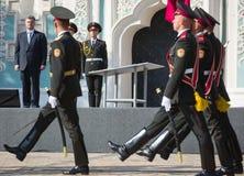 Ceremonias dedicadas al día de bandera del estado de Ucrania Imagenes de archivo