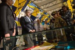 Ceremonias dedicadas al día de bandera del estado de Ucrania Foto de archivo libre de regalías