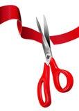 ceremonicutting som öppnar det röda bandet Royaltyfria Foton