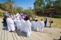 Ceremonie bautismal Fotos de archivo