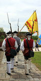 Ceremonie bij het kasteel Stock Foto's
