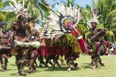 Ceremonie de la danza del dragón en Papua nuevo guineano Imagen de archivo