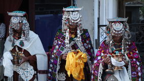 Ceremonie in Tabo Royalty-vrije Stock Afbeeldingen