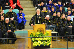 Ceremonie van de Clarkson de Universitaire 2014 Graduatie Stock Foto